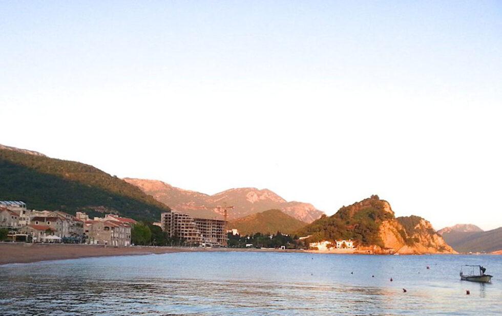 Meer, Strand, Hotel, Berge